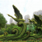Artificial grass sculpture for decoration
